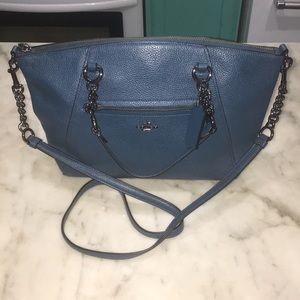 Coach Prairie Peacock W Gunmetal Convertible Bag